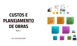 CUSTOS E PLANEJAMENTO DE OBRAS