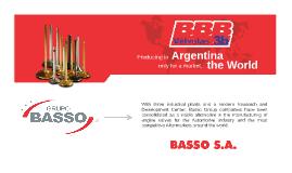 Presentación Institucional GRUPO BASSO - Inglés - 03/2016