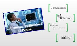 Comunicados y boletines de prensa