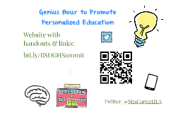 Genius Hour: Leveraging Technology and Personalized Education To Promote Engagement