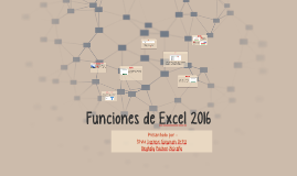 Funciones de Excel 2016