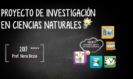 PROYECTO DE INVESTIGACIÓN EN CIENCIAS NATURALES