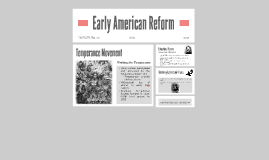 Early American Reform