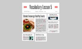 Vocabulary Lesson 5
