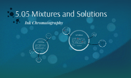 5.05 Mixtures and Solutions