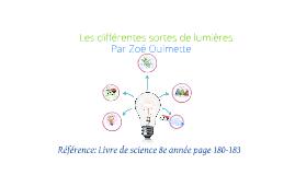 Les différentes sortes de lumières
