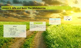 Lesson 5- Alfa and Beto: The Biblioburros