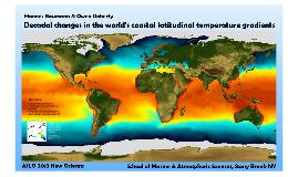 Decadal changes in the world's coastal latitudinal temperature gradients
