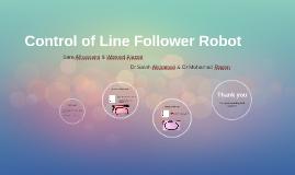 Control of Line Follower Robot