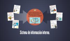 Sistema de información interno.