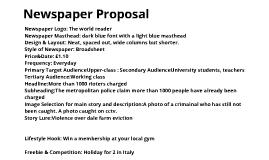 U2 AO1 U2 A03 Newspaper Proposal
