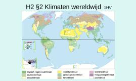 1HV H2 P2 Klimaten wereldwijd
