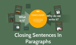 Closing Sentences in Paragraphs