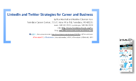 Twitter Strategies for Career and Business