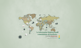 La información histórica como conocimiento del territorio