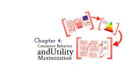 Chapter 4: Utility Maximization