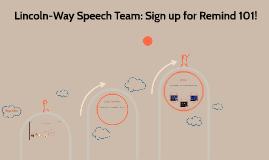 Lincoln-Way Speech Team
