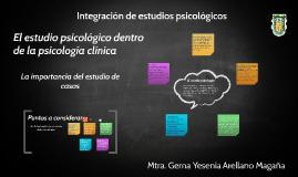 El estudio psicológico