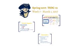 TSDC-12 | SP17 | Mid-Semester