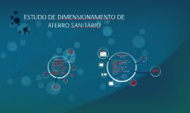 ESTUDO DE DIMENSIONAMENTO DE ATERRO SANITÁRIO