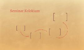 Seminar Kolokium