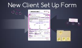 New Client Set Up Form