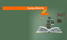 CARTA ABERTA