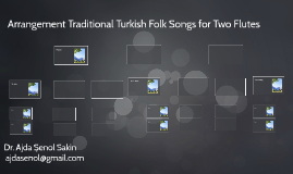 Arrangement Traditional Turkish Folk Songs for Two Flutes