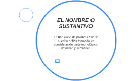 EL SUSTANTIVO