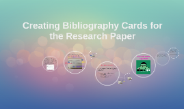 citation cards for research paper How to write a bibliography for a research paper this will help your students understand how to properly cite different resources in their research papers.