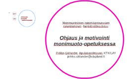 Ohjaus ja motivointi monimuoto-opetuksessa