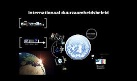 Internationaal duurzaamheidsbeleid