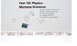 Year 10 Physics Lesson 1