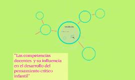 """""""Las competencias docentes  y su influencia en el desarrollo"""