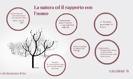 La natura ed il rapporto con l'uomo