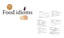 Copy of Food idioms
