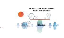 PROPUESTA PROCESO INGRES  UNIDAD CONVENIOS