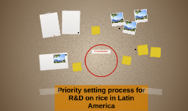 Priority setting process for R&D on rice in Latin America