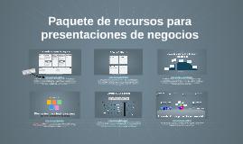 Copy of Paquete de recursos para presentaciones de negocios