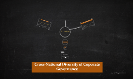 Cross-National Diversity of Coporate Goverence