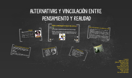 ALTERNATIVAS Y VINCULACIÓN ENTRE