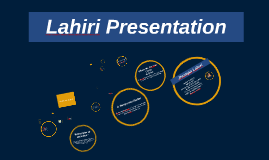 Lahiri Presentation