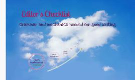 Editor's Checklist