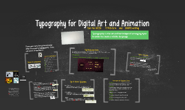 Typography for Digital Art and Animation