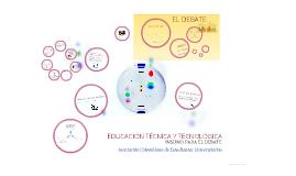 Educación Técnica y Tecnológica: Insumo para el debate