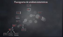 Fluxograma de análises estatísticas