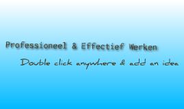 Professioneel & Effectief Werken