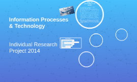 Information Processes & Technology
