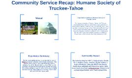 Community Service Recap: Humane Society of Truckee-Tahoe