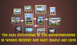 Ten real situations in which present and past simple are use